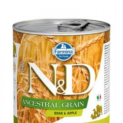 N&D Low Grain cu mistreț și măr 285 gr