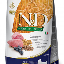 N&D Low Grain Mini Dog Miel și Coacăze 7 kg