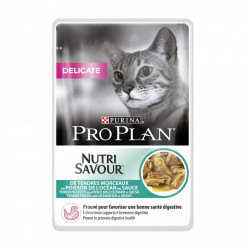 Purina Pro Plan Delicate NUTRISAVOUR cu Peste Oceanic 85 gr