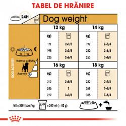 Hrana uscata caini ROYAL CANIN Beagle Adult tabel de hranire