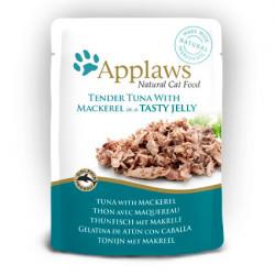 Applaws CAT hrană umedă cu fileuri de ton și macrou în aspic 70 gr