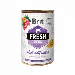 Brit Fresh Vițel și mei 400 gr