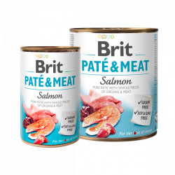 Brit Pate and Meat Somon 800 gr + 400 gr