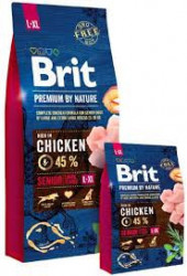 Brit Premium by Nature Senior L & XL cu pui 15 Kg + 3 Kg