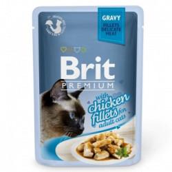 Brit Premium Cat Delicate Pui în sos 85 gr(pliculeț)