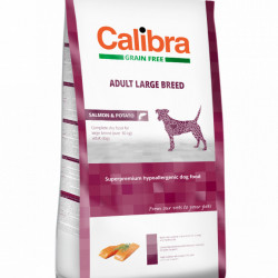 Calibra Dog Adult Large Breed cu somon