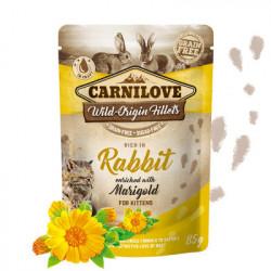 Carnilove Kitten Iepure cu Galbenele 85 gr