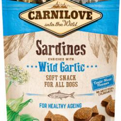 Carnilove Semi-Moist Snack cu sardine și usturoi sălbatic 200 g