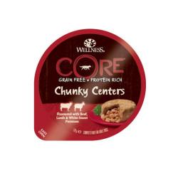 Hrana umeda pentru caini Wellness Core Chunky cu vita miel si cartof dulce 170 g
