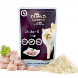 Nuevo Cat Light cu pui și orez 85 gr