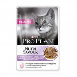 Purina Pro Plan Delicate NUTRISAVOUR cu carne de Curcan 85 gr