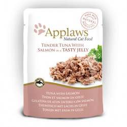 Applaws CAT hrană umedă cu fileuri de ton și somon în aspic 70 gr