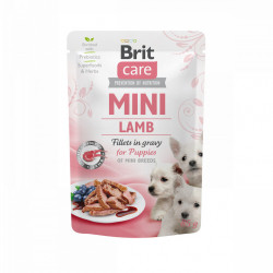 Brit Care Mini Puppy Dog Fileuri de Miel în Sos 85 gr