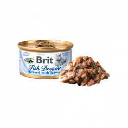 Brit Fish Dreams Macrou și Alge 80 gr (conservă)