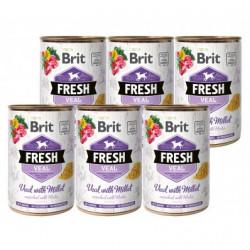 Brit Fresh Vițel și mei 6 x 400 gr