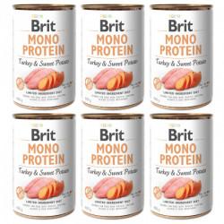 Brit Mono Protein Curcan si cartofi dulci 6 x 400 gr