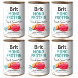 Brit Mono Protein Ton și Cartofi dulci 6 x 400 gr
