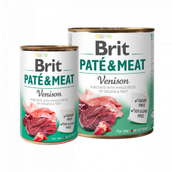 Brit Pate and Meat Vânat 800 gr + 400 gr