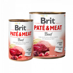 Brit Pate and Meat Vită 800 gr + 400 gr