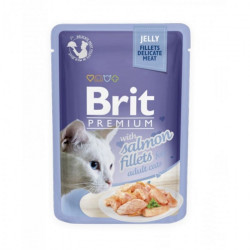 Brit Premium Cat Delicate Fileuri de Somon în aspic 85 gr (pliculeț)