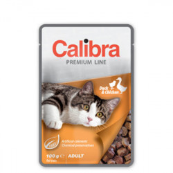 Calibra Premium Adult Cat cu rață 100 gr