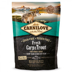 CARNILOVE Fresh Adult Dog Crap și Păstrăv 1,5 kg