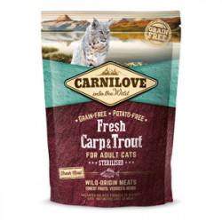 Carnilove Fresh Cat Sterilised Crap și Păstrăv 400 g