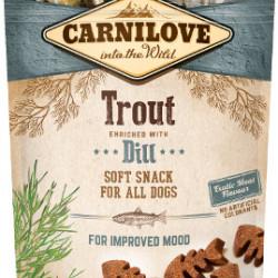 Carnilove Semi-Moist Snack cu păstrăv și mărar 200 g