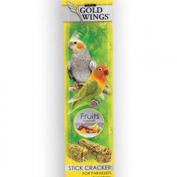 GOLD WINGS CLASSIC PARAKEET/NIMFA FRUIT DUO STICK 2X40GR