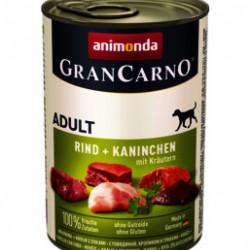 GranCarno Original Adult Iepure și Verdeturi 400 gr