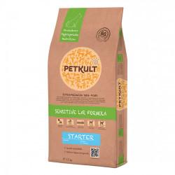 Hrana uscata caini Petkult Sensitive Starter miel si orez 12 kg