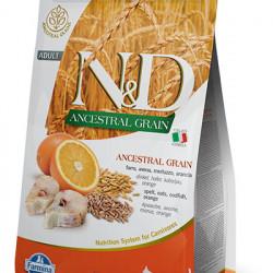 N&D Ancestral Grain Cat cu cod si portocala