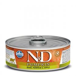 N&D Cat Pumpkin cu mistreț și măr 80 gr