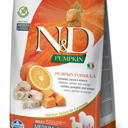 N&D Dog Medium&Large Grain Free Pumpkin cu cod și portocală