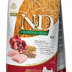 N&D Low Grain Dog Mini Adult Pui și Rodie 2.5 kg