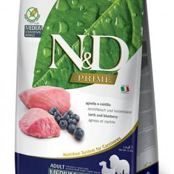 N&D Prime Medium Maxi Dog Miel și Coacăze 12 kg