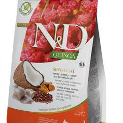 N&D Quinoa Cat Skin&Coat cu hering