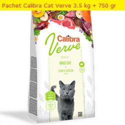 Pachet Calibra Cat GF Verve Mature Miel si Vanat 3.5 kg + 750 gr
