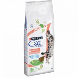 Purina Cat Chow Sensitive cu Somon 15 kg