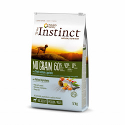 True Instinct Dog No Grain Medium & Maxi Adult cu Somon 12 kg
