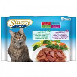 Hrana umeda pisici Stuzzy pui si vitel set 4 plicuri X 100 g