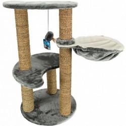 Ansamblu joaca pisici - 3 nivele si culcuș Tirol