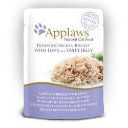 Applaws CAT hrană umedă cu piept de pui și ficat în aspic 70 gr