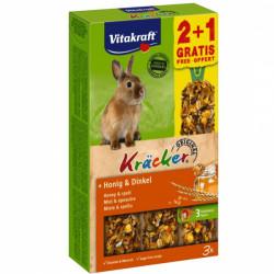 Baton pentru iepuri Vitakraft Kracker Miere 112gr +56gr Gratis