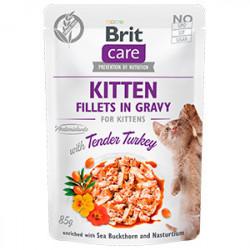 Brit Care Kitten Fileuri de curcan în sos 85 gr