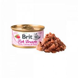 Brit Fish Dreams Ton, Morcov și Mazăre 80 gr (conservă)
