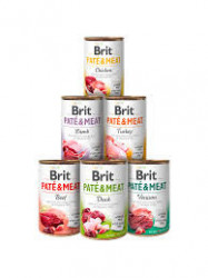 Brit Pate and Meat Mix Pack 6x400 gr