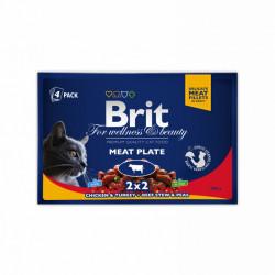 Brit Premium Cat Multipack felii de carne (pliculețe) 4x100 gr