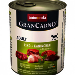 GranCarno Original Adult Iepure și Verdețuri 800 gr