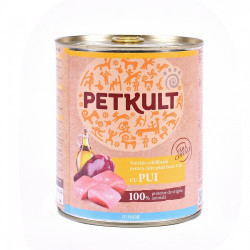 Hrana umeda pentru caini Petkult Junior cu pui 800 g